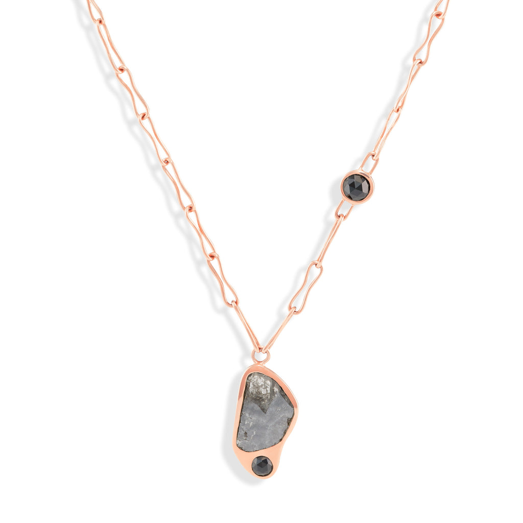 Black Diamond & Spinel Golden - The Dauphine  Necklace