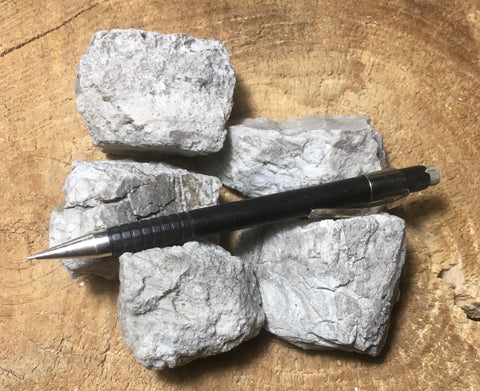 perlite - teaching student specimens of gray perlite ore - an amorphous hydrated glass - Unit of 5 specimens
