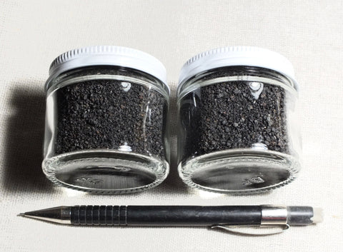 sand - angular basalt sand - set of 2 two-ounce jars of sand weathered from a basalt flow in Hawaii
