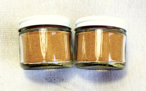 sand - dune sand - orange-pink sand derived from the Navajo Sandstone - set of two 2-ounce jars