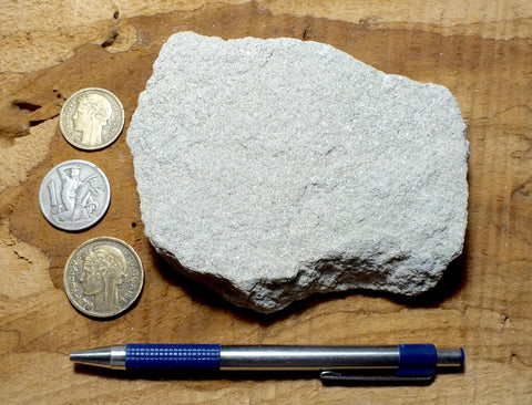 sandstone - teaching hand specimen of medium-grained Ogallala sandstone