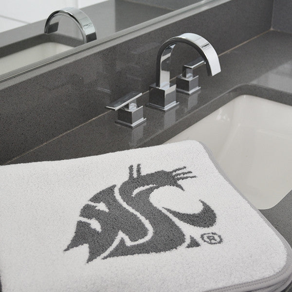 wSU Gray logo bath towel