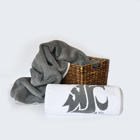 WSU Bath Towel (Gray Logo)