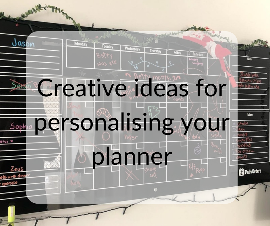 Creative Ideas For Your Personalised Planning Board