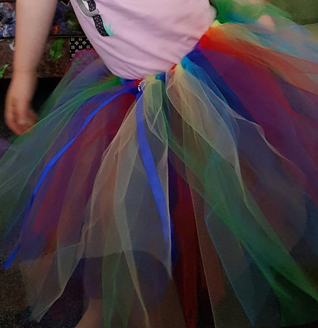 Rainbow tutu milkbox craft