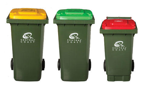 recycling bins organised plan family