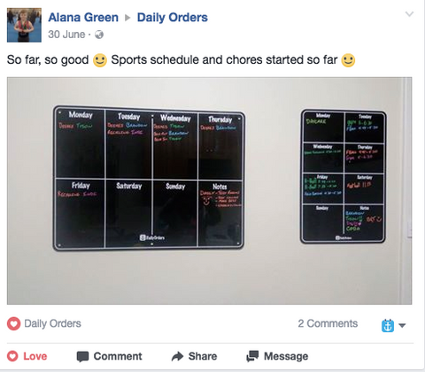 medium and small weekly planner daily orders review