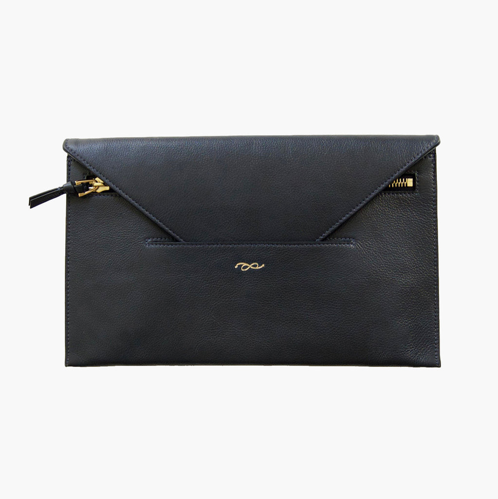 new lower prices modern style cheaper Envelope clutch in midnight blue