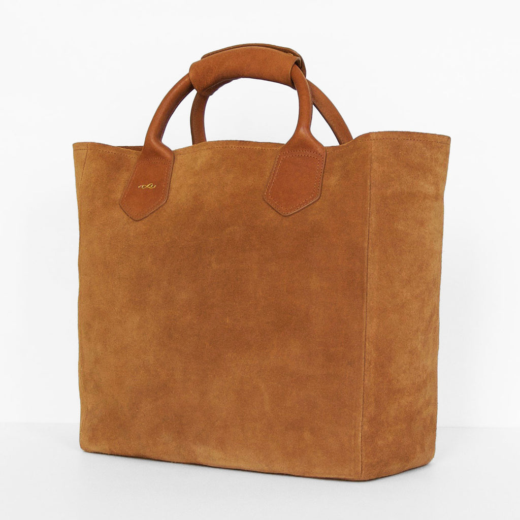 Perfect Join or Die NYC - Tote bag in peanut suede RF41