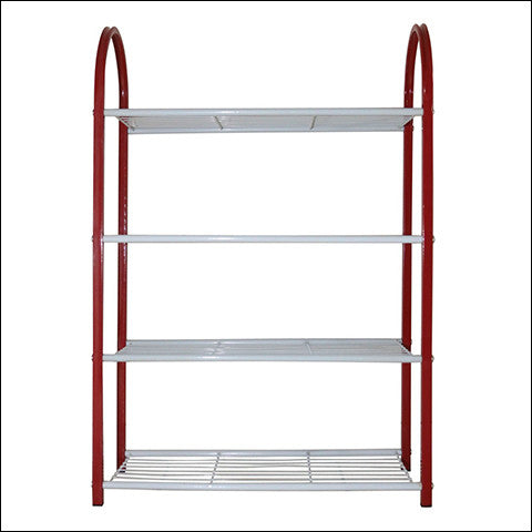Compact Metal Shoe Rack for Closets