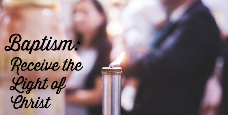 What is the meaning of the baptism candle?