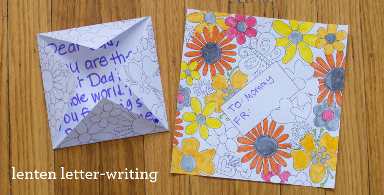 5 Letter-Writing Activities for Kids during Lent