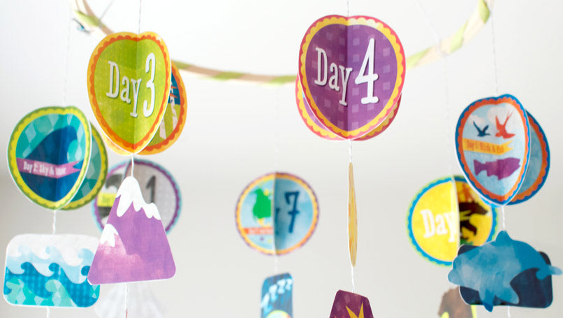 7 Days Of Creation Paper Mobile