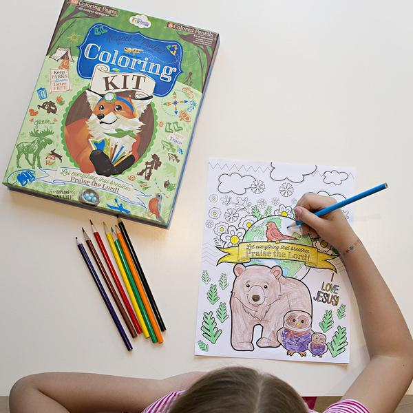 Woodland Coloring Kit - The Wee Believers Toy Company