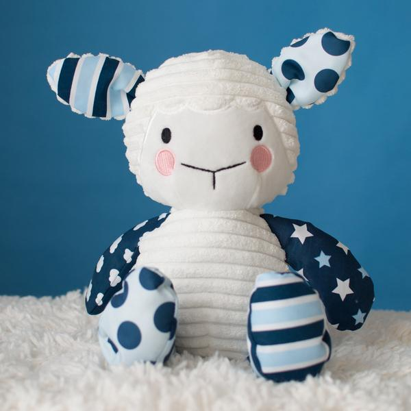 Lullaby Lamb (Blue) - The Wee Believers Toy Company