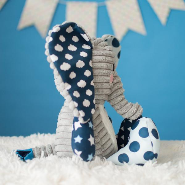 Lullaby Elephant (Blue) - The Wee Believers Toy Company