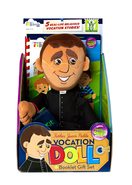 Father Juan Pablo Vocation Doll - The Wee Believers Toy Company