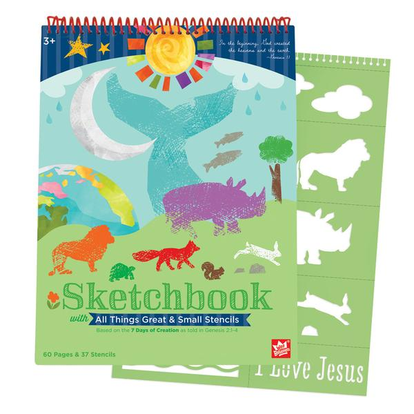 7 Days of Creation Sketchbook & Stencil Set - The Wee Believers Toy Company
