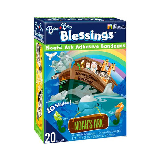 Noah's Ark Boo-Boo Blessings Adhesive Bandages - The Wee Believers Toy Company