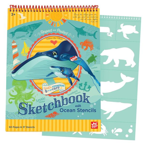 Ocean Sketchbook & Stencil Set - The Wee Believers Toy Company
