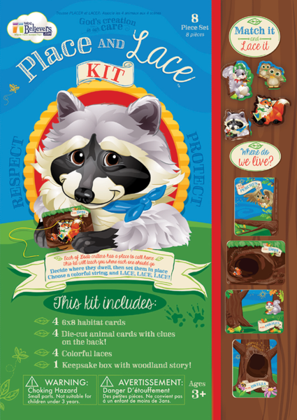 Woodland Place & Lace Kit - The Wee Believers Toy Company