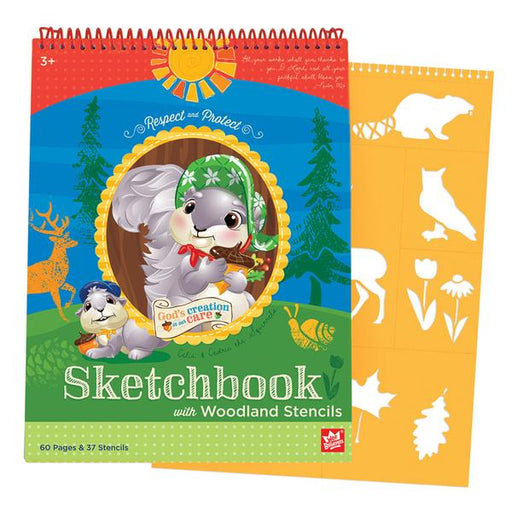 Woodland Sketchbook & Stencil Set - The Wee Believers Toy Company
