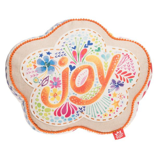 Joy Flower Affirmation Pillow - The Wee Believers Toy Company