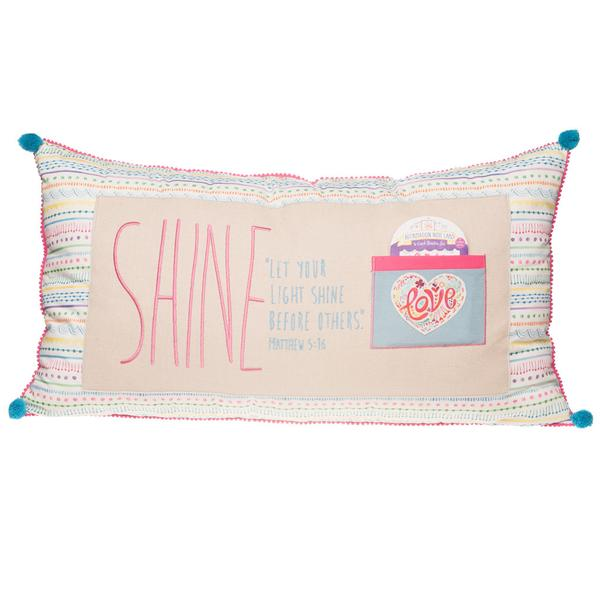 Shine Jumbo Affirmation Pillow - The Wee Believers Toy Company