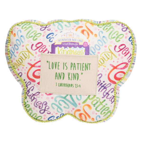Kindness Butterfly Affirmation Pillow - The Wee Believers Toy Company