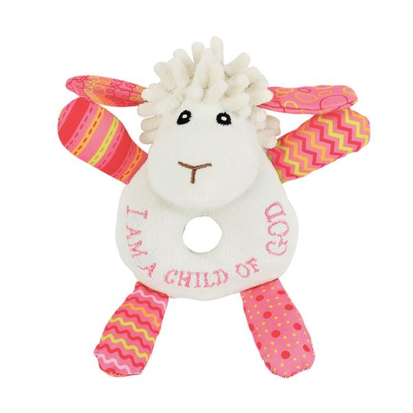 Lucy the Little Lamb Rattle - The Wee Believers Toy Company