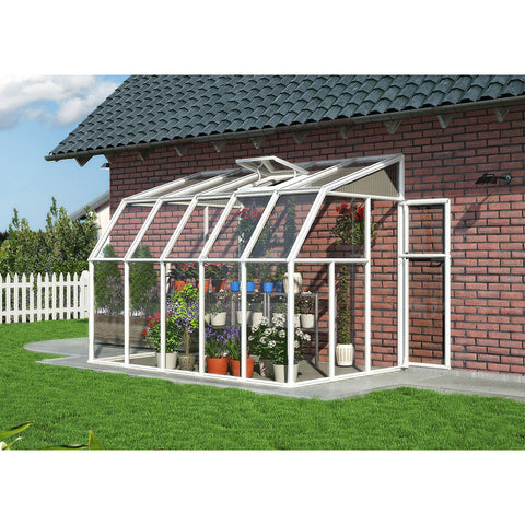 Sun Room 2 by Rion 6 and 8 foot Lean-to - World of Greenhouses - 1