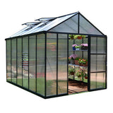 Glory Premium Hobby Grey Greenhouse 8 Feet Wide x 8-20  FeetLong - World of Greenhouses - 2