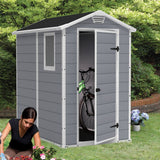 Manor 4-ft x 6-ft Storage Shed - World of Greenhouses - 5