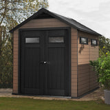 Keter Fusion 7.5-ft x 9-ft Double Door Shed - World of Greenhouses - 2