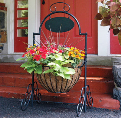 Classic Ironwork Welcome Planter - World of Greenhouses - 1