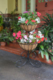 Classic Ironwork Two-Tier Planter - World of Greenhouses - 1