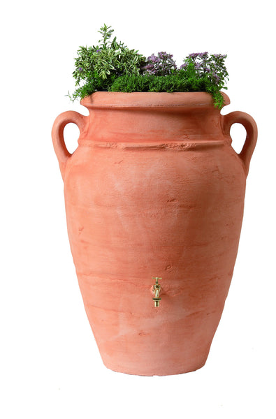 Graf Roman Rain Barrel Antique Amphora With Planter - World of Greenhouses - 1