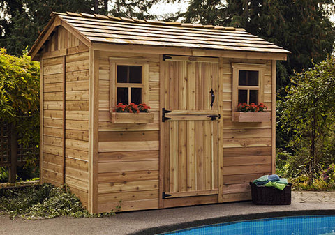 Cabana 9'x6' Garden Shed - World of Greenhouses - 1