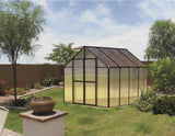 Monticello 8 Foot  4 season Greenhouse 8'-24 Length Black or Silver -Accessory Package- Riverstone Industries