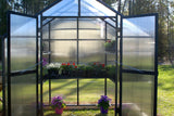 Monticello Patio 4 Season Black 8'x4' 8mm Twinwall Greenhouse  With Free Accessories Package Riverstone Industries MONT-PATIO-BK