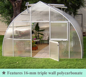 Riga XL Commercial Quality Greenhouse kit 14 Foot Wide 10 Foot High - World of Greenhouses - 1