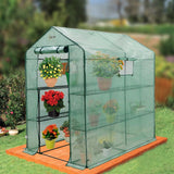 "Ogrow Large Heavy Duty WALK-IN  8 Shelf Portable Lawn and Garden Greenhouse 75"" H x 49"" W x 74"" D - World of Greenhouses - 6"
