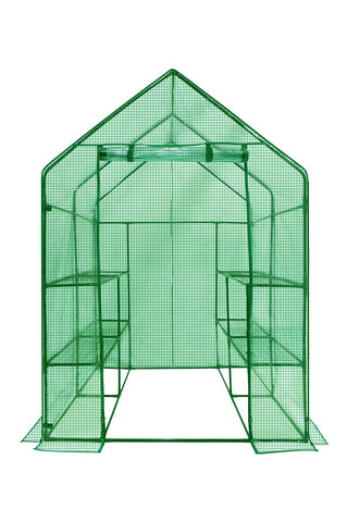 Ogrow Deluxe WALK-IN  8 Shelf Portable Lawn and Garden Greenhouse - Heavy Duty Anchors Included! - World of Greenhouses - 1