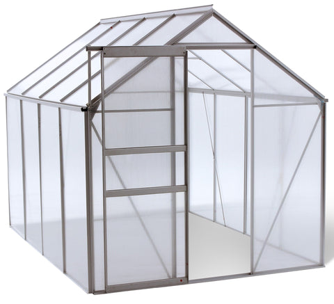 Ogrow WALK-IN 6' X 8' Lawn and Garden Greenhouse - World of Greenhouses - 1