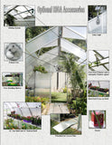 Riga XL Commercial Quality Greenhouse kit 14 Foot Wide 10 Foot High - World of Greenhouses - 2