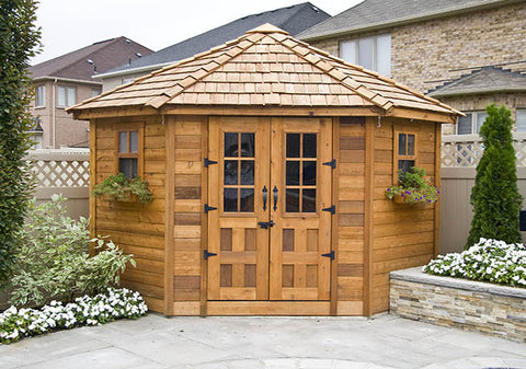 The Penthouse 9'x9' Cedar Garden Shed - World of Greenhouses - 1