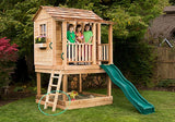 OLT 6x6 Elevated Cedar Playhouse With Sandbox