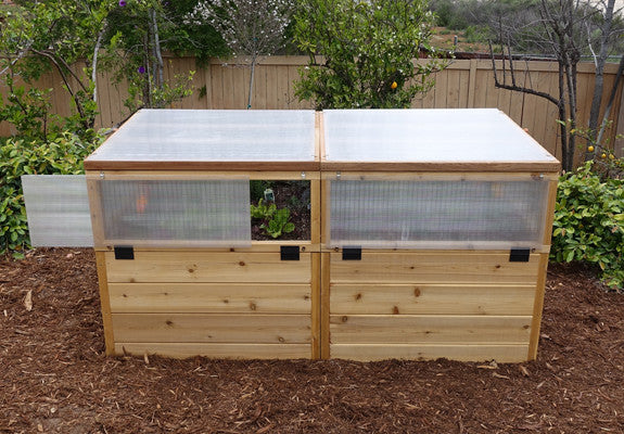 Olt Cedar Raised Bed 6x3 Mini Greenhouse Kit World Of