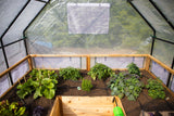 OLT Raised Cedar Garden Bed With Removable greenhouse