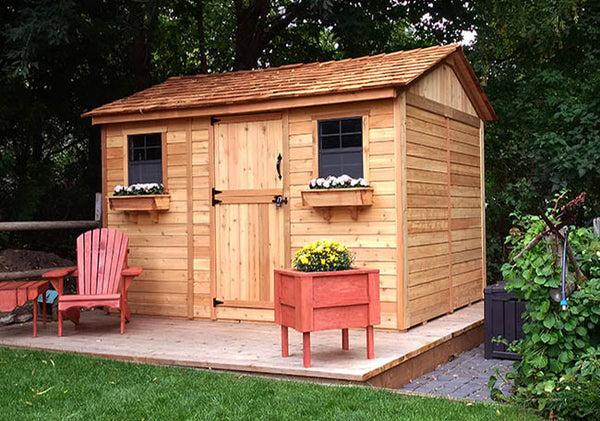 Cabana 12'X8' Garden Shed - World of Greenhouses - 1